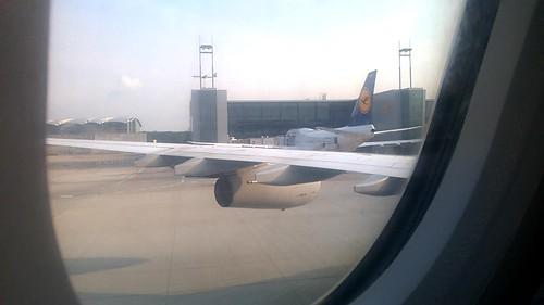A380 en el aeropuerto de Frankfurt