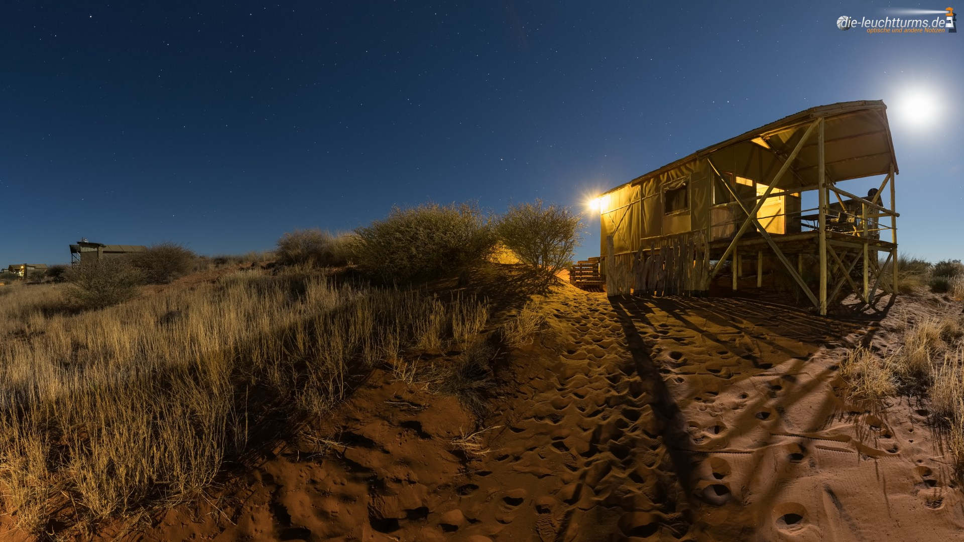The night comes in the Kalahari