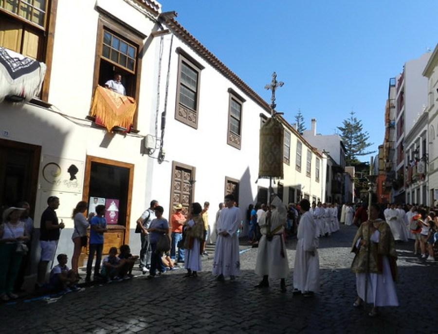 Llegada de la Virgen a Santa Cruz de La Palma procesión desde el Castillo hasta Iglesia de El Salvador 10