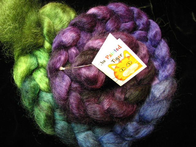 Jeweled - June 2015 Tiger Club - Wensleydale wool