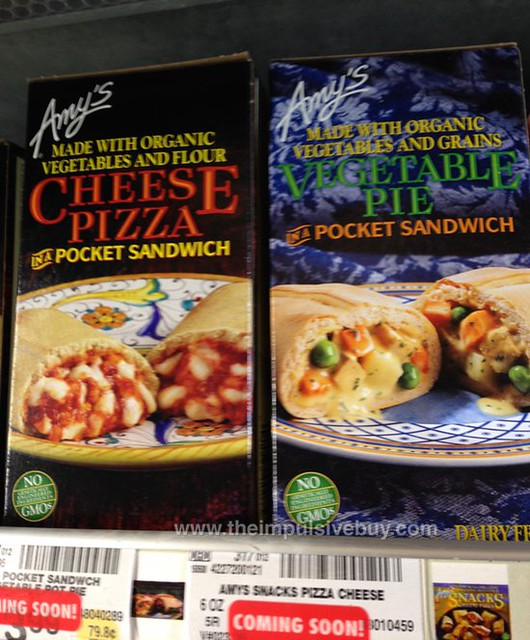 Amy's Cheese Pizza and Vegetable Pie in a Pocket Sandwich