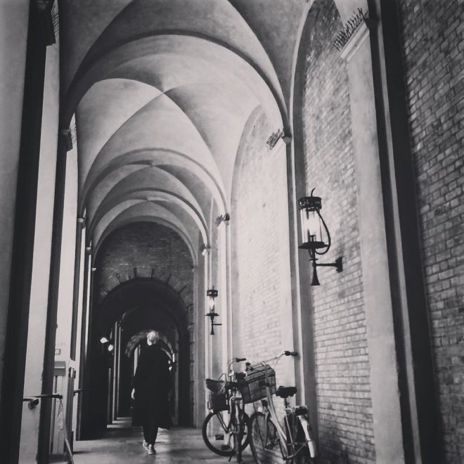 Taking the private guided tour through the hidden passages of inner #Copenhagen. With my best girl, near what was Gråbrødre Cloister.