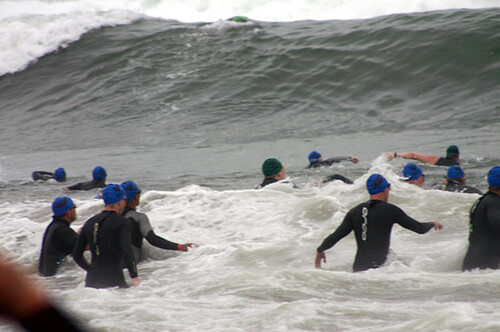 Prepare for race day with race-specific training eg open water swimming for triathletes