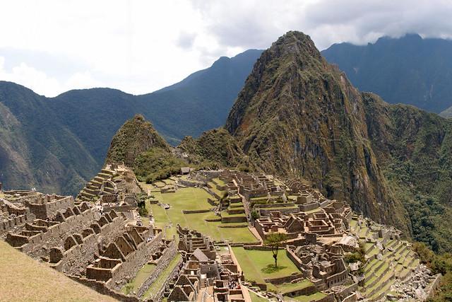 Wide angle Machu Picchu
