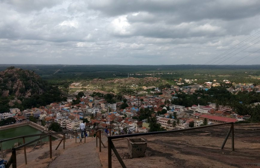 The view from atop the Vindhyagiri Hill, Sravanabelagola