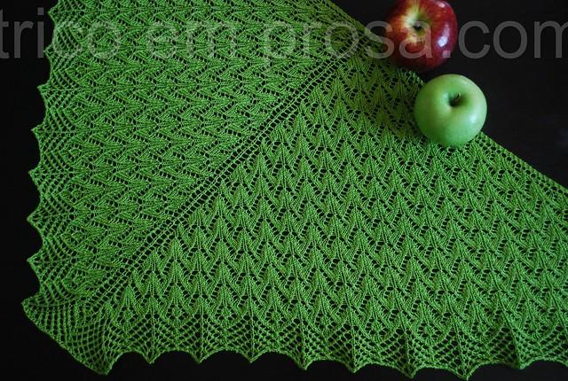 tricô em prosa - xale Gramado