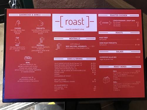 roast menu