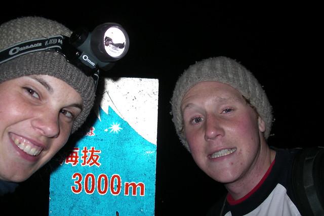 3000 meters up