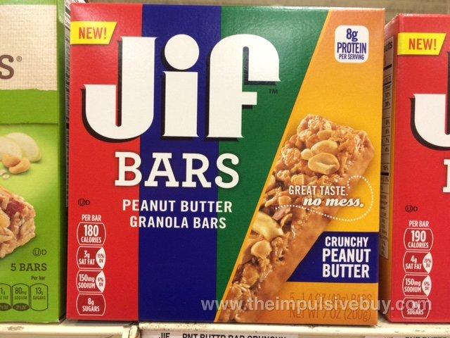 Crunchy Peanut Butter Jif Bars
