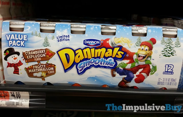 Limited Edition Dannon Danimals Smoothie Strawberry Explosion and Frosty Marshmallow