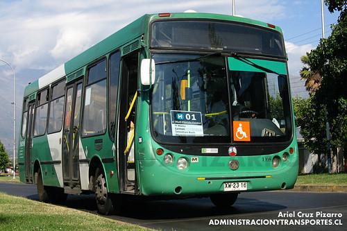 Transantiago - Buses Vule - Metalpar Tronador / Mercedes Benz (XW2316)