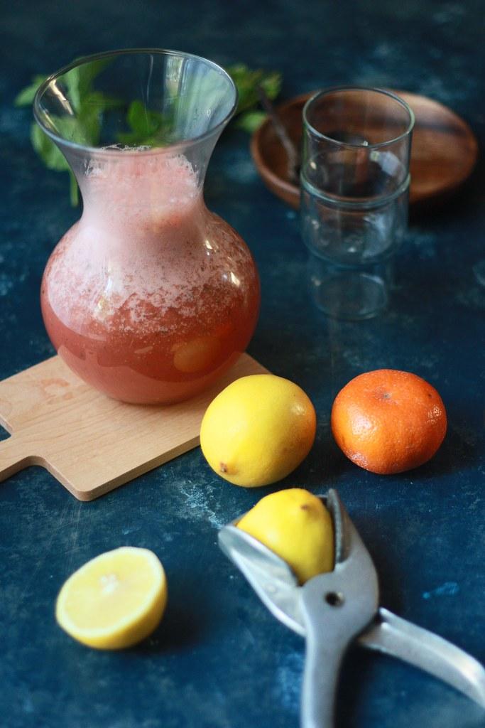 Spiced Watermelon-Orange Mint Drink