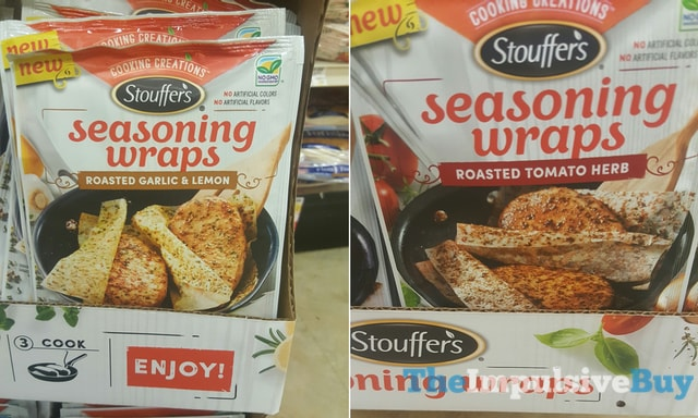 Stouffer's Seasoning Wraps Roasted Garlic & Lemon and Roasted Tomato Herb
