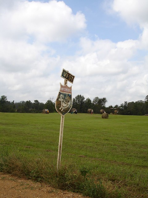 Interstate Sign at Jim Bird's Hay Creations, Forkland AL