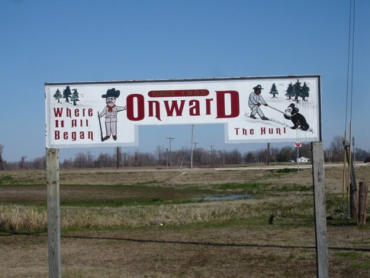 Sign at Onward, MS