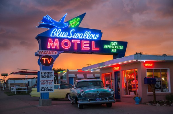 Blue Swallow Motel - 815 East Route 66, Tucumcari, New Mexico U.S.A. - June 7, 2015