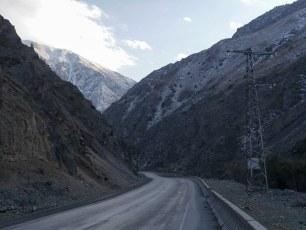 The start of the mountainous road from Bishkek to Osh | Jan, 2016