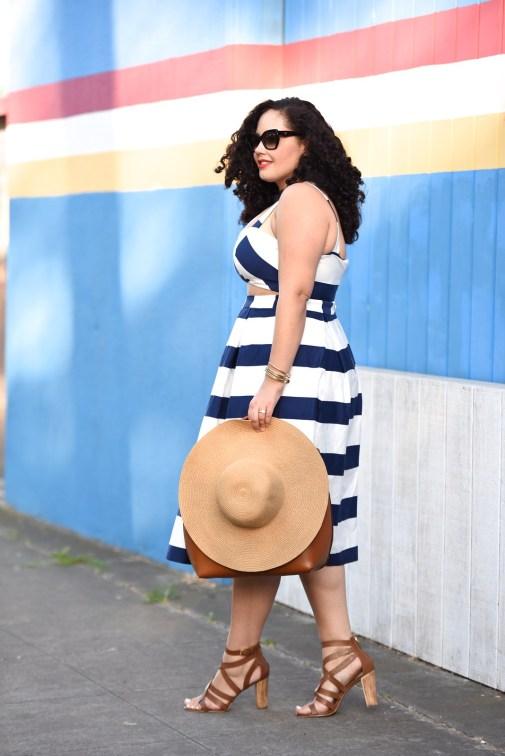 Stripe Cut Out Dress
