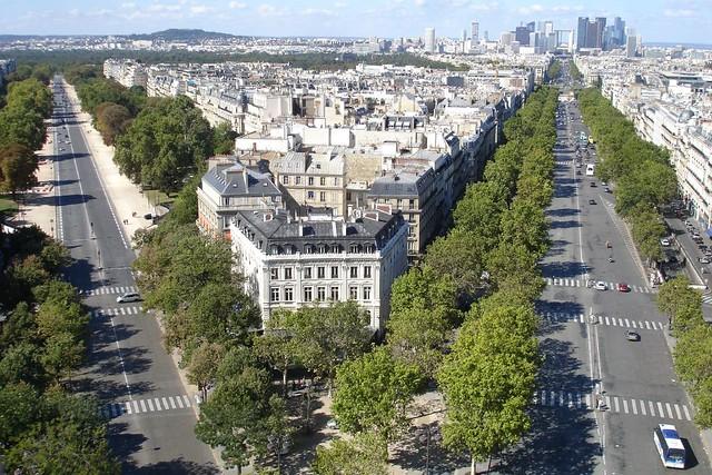 From the top of Arc de Triomphe, Paris