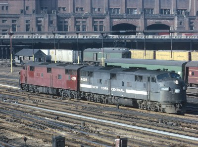 Penn Central 4025 and 4224