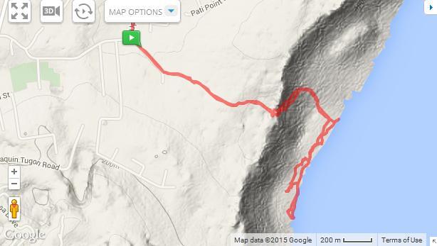 Anao Hike Topo Map