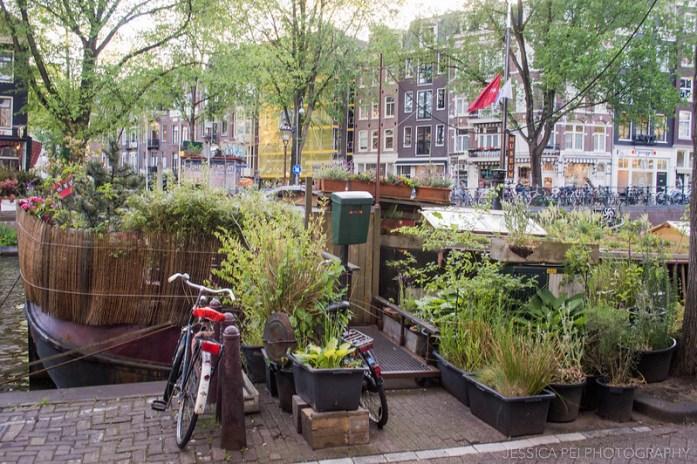 Amsterdam House Boat Garden
