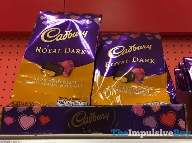 Cadbury Royal Dark Dark Chocolate with Caramel & Sea Salt Hearts