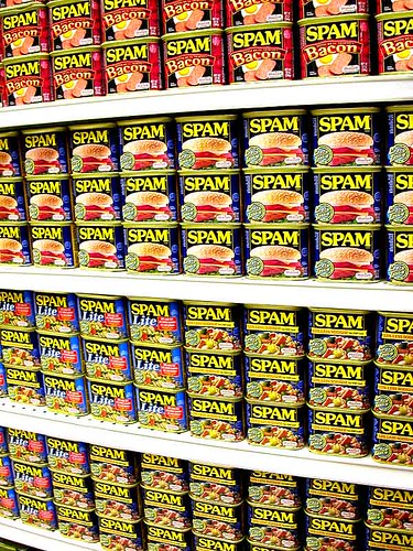 wall of spam