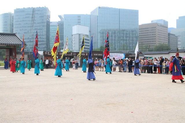 Guard Changing Ceremony at Gyeongbokgung