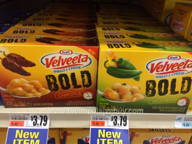 Velveeta Bold (Chipotle and Jalapeno)