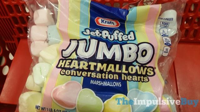 Kraft Jet-Puffed Jumbo Heartmallows Conversation Hearts