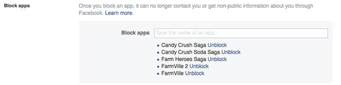 Block Apps on Facebook