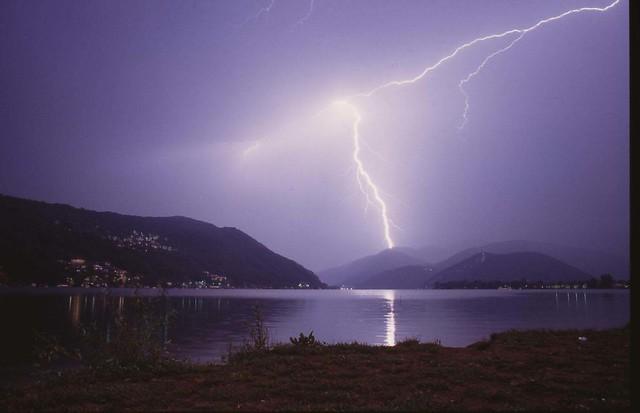 Lightning at Lago di Lugano