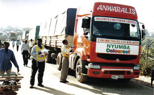 Truckstop at the Uganda / Kenya border of Malaba