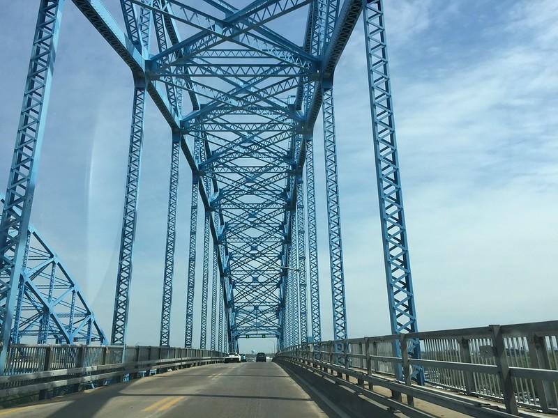 My last view of the Grand Island bridge . . .