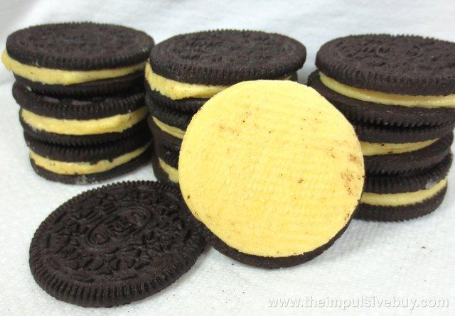 Limited Edition Lemon Twist Chocolate Oreo Cookies Closeup