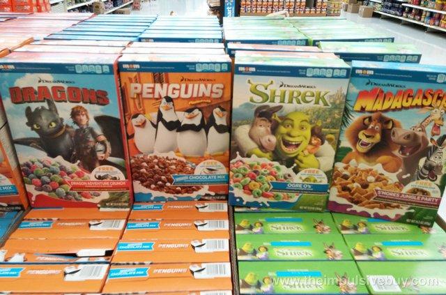 Mom Brands DreamWorks Cereals