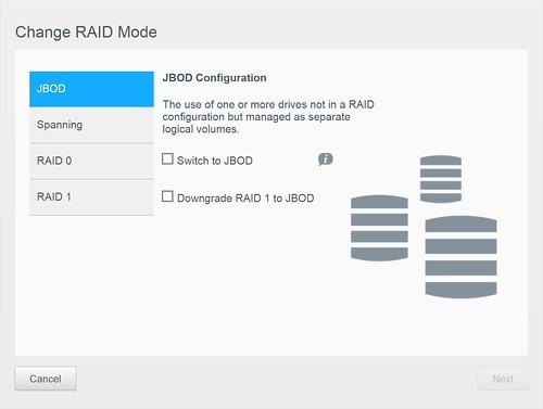 WD My Cloud EX2100 - RAID Mode