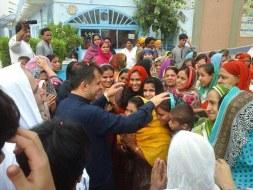 Welcome Sain Sadhram Sahib at Pooj Raherki Sahib (9)