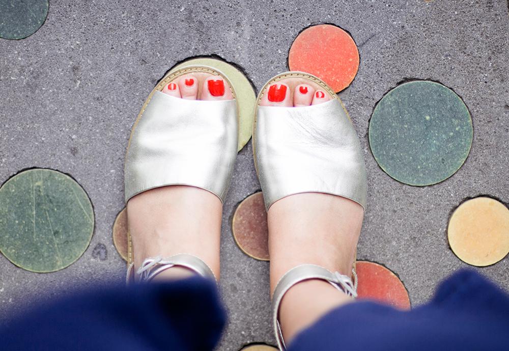 Clarks silver sandals