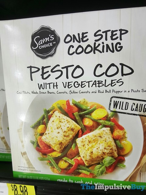 Sam's Choice One Step Cooking Pesto Cod with Vegetables