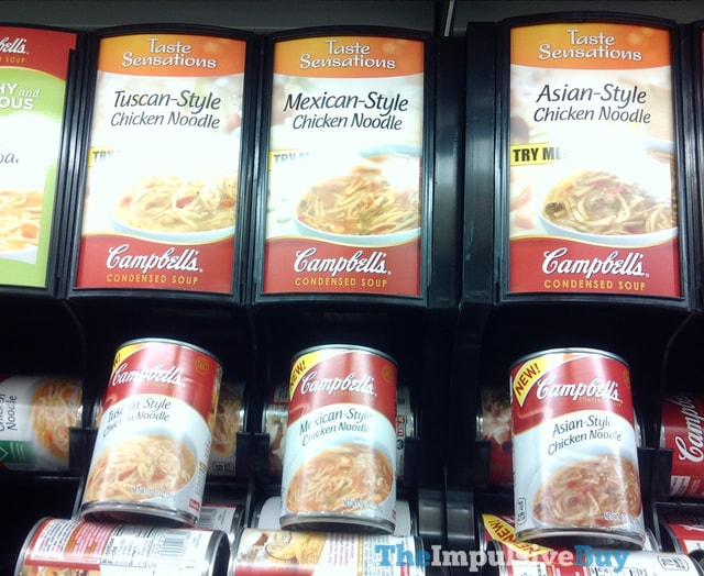 Campbell's Taste Sensations Chicken Noodle (Tuscan-Style, Mexican-Style, and Asian-Style)