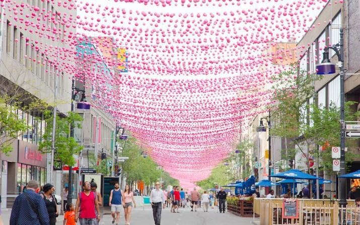 Pink Balls - St Catherine Street