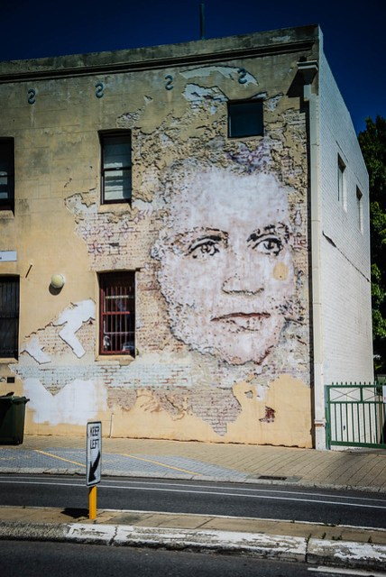 Wall art in Freemantle