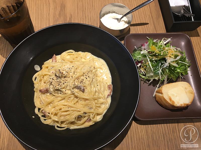【那霸艾斯汀納特酒店】飯店早餐篇 奶油培根義大利麵