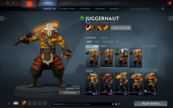 I paid ten dollars for a Dota 2 cosmetic set…