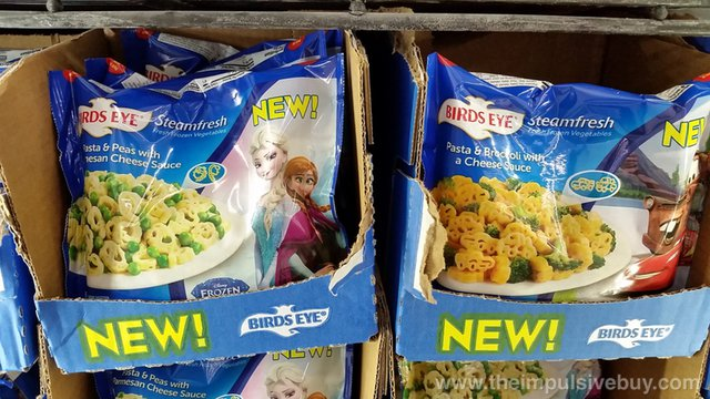 Birds Eye Steamfresh Frozen Pasta & Peas with Parmesan Cheese Sauce and Cars Pasta & Broccoli with a Cheese Sauce