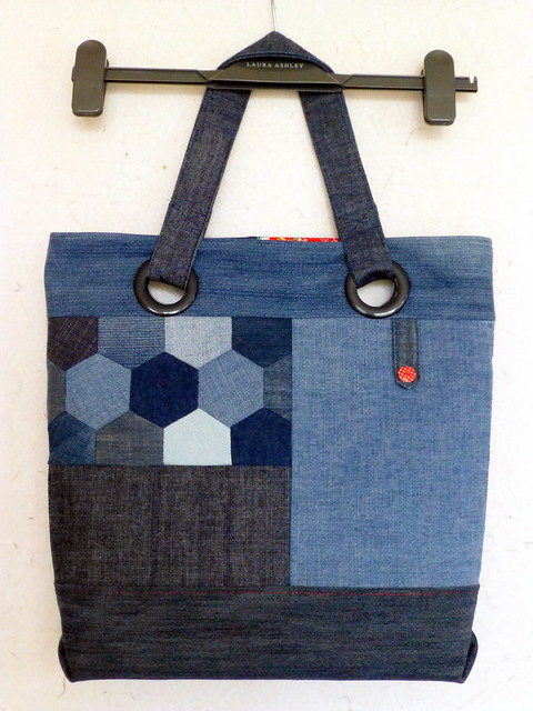 Repurposed denim (hexie) bag