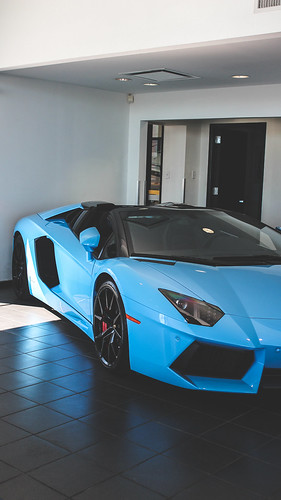 Aventador Wallpaper - Blue Cepheus