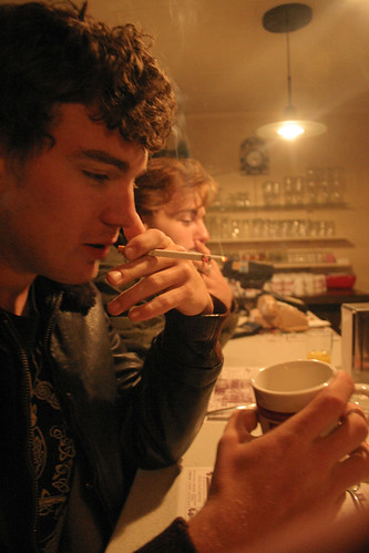 kyle's moment of contemplation in diner by Eddy Pula